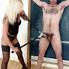 Fetish punishment.