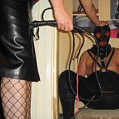 Femdom and pecker and ball torture.